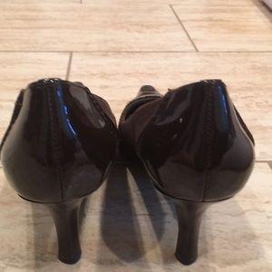Joan & David Shoes - Circa Chocolate Brown Patten Suede Heels Sz 8